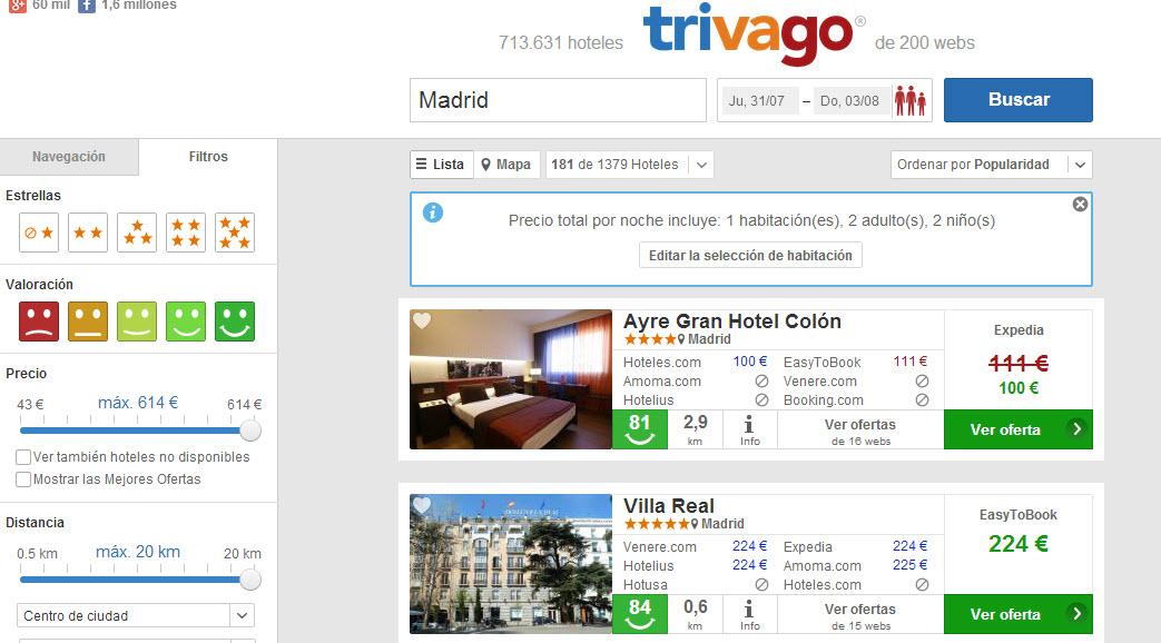 trivago hoteles
