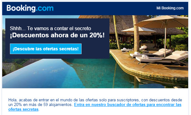 booking hoteles con ofertas secretas