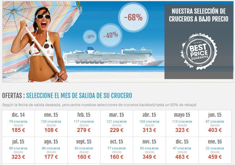 crucerosnet 2015 ofertas