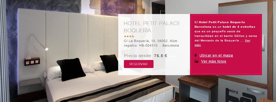 hoteles petit palace barcelona