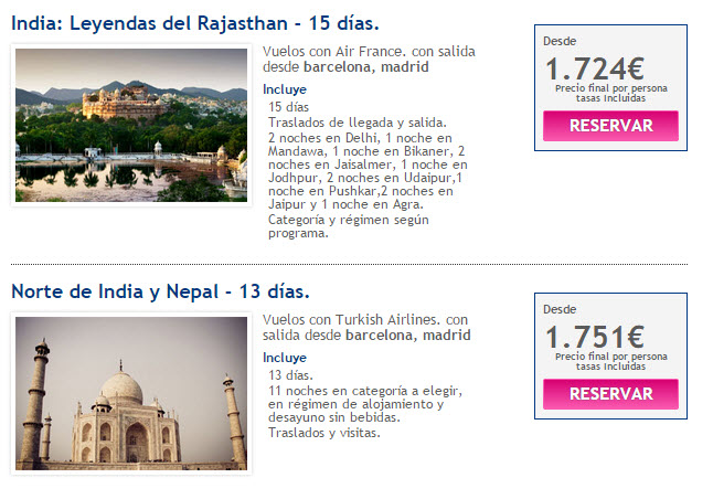 viajes la india 2015