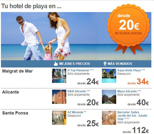 ofertas hoteles de playa baratos agosto 2015