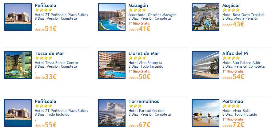 ofertas viajes low cost agosto