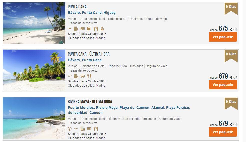 vacaciones caribe verano
