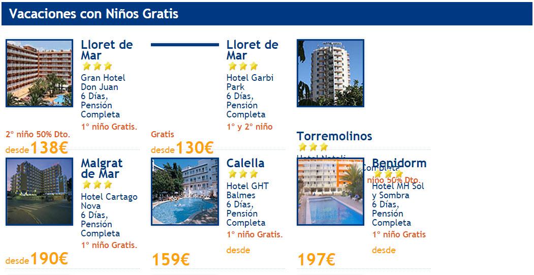 vacaciones hoteles verano