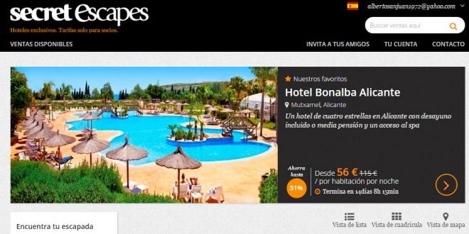 Secret escapes espa a opiniones de ofertas en hoteles de lujo for Hoteles de lujo en espana ofertas