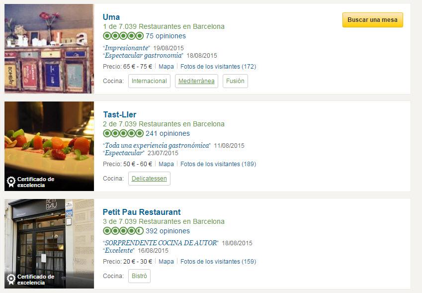 tripadvisor restaurantes Barcelona