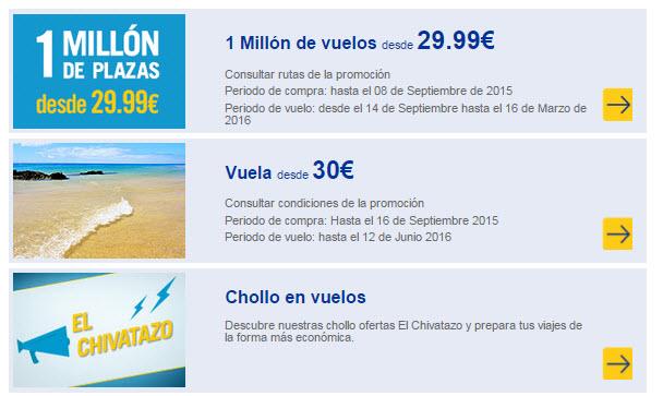 Puente del pilar 2015 vuelos low cost