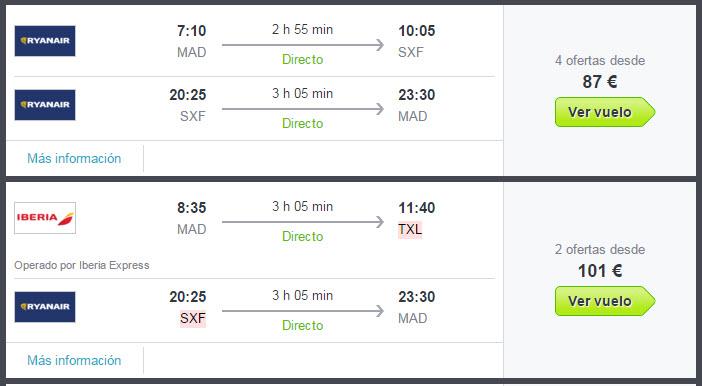 Comparativa de vuelos low cost 2016