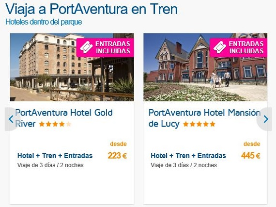Parques temáticos hotel y entradas