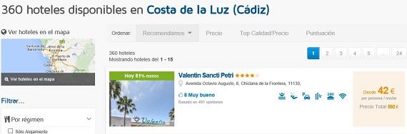 hoteles de playa Cádiz