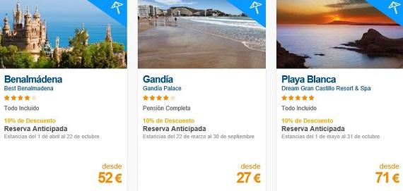 hoteles de playa 2016 baratos
