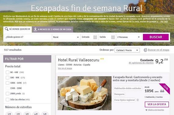 weekendesk casas rurales