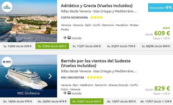 cruceros baratos julio 2016 Islas Griegas