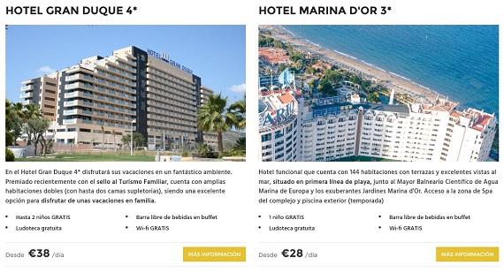 marinador hoteles