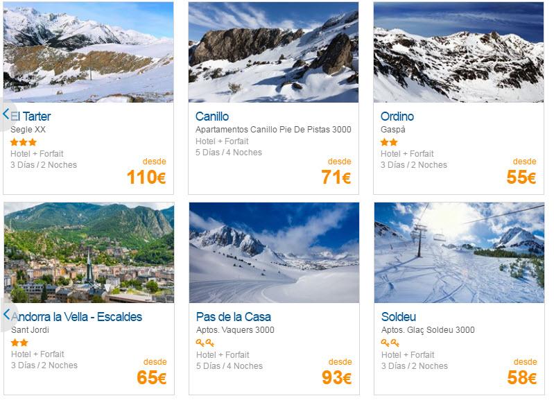 ofertas viajes nieve