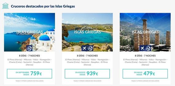 pullmantur crucero islas griegas