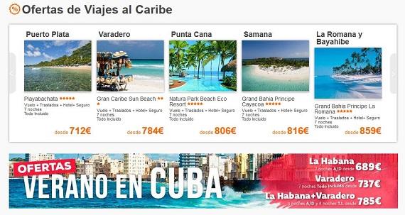 central de vacaciones caribe